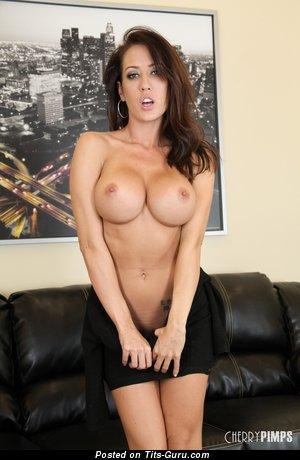 Capri Cavalli - sexy naked brunette with medium breast image