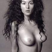 Monica Bellucci - hot girl with medium natural tittes image