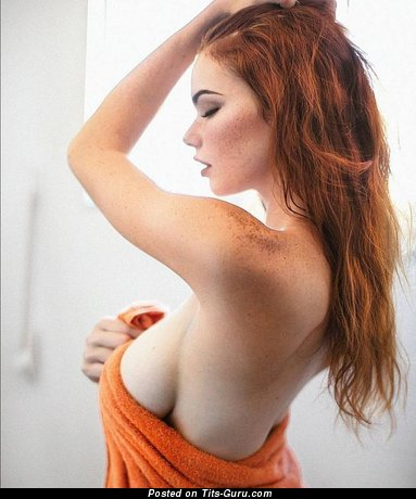 The Best Red Hair Babe with The Best Defenseless Real Normal Busts (Xxx Pic)