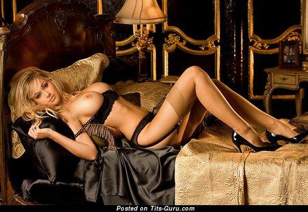 Image. Regina Deutinger - nude blonde with big fake boobies image