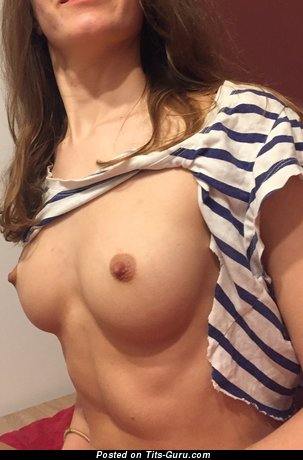 Anna - Charming Doxy with Charming Exposed Natural Microscopic Breasts & Erect Nipples (on Public Hd Porn Photoshoot)