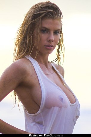 Charlotte McKinney - Splendid Topless & Wet American Playboy Blonde Actress with Splendid Bare Natural Medium Chest & Huge Nipples (Private Selfie & Vintage Hd Porn Picture)