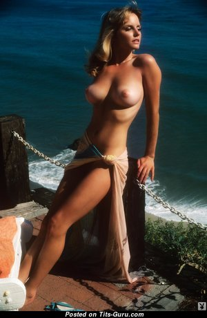 Karen Witter - Wonderful Topless & Glamour American Playboy Blonde Actress with Wonderful Nude Med Boob, Pointy Nipples, Sexy Legs (Vintage Hd Sexual Wallpaper)