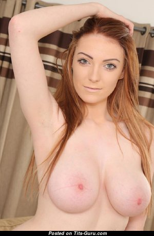 Alice - Awesome Topless Lassie with Awesome Exposed Natural Tit & Enormous Nipples is Undressing (Hd 18+ Photo)