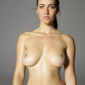 Wonderful female with medium natural breast photo