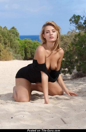 Anna Tatu - The Best Czech Red Hair Pornstar with The Best Defenseless Natural Medium Sized Tittys on the Beach (Hd Sexual Pix)
