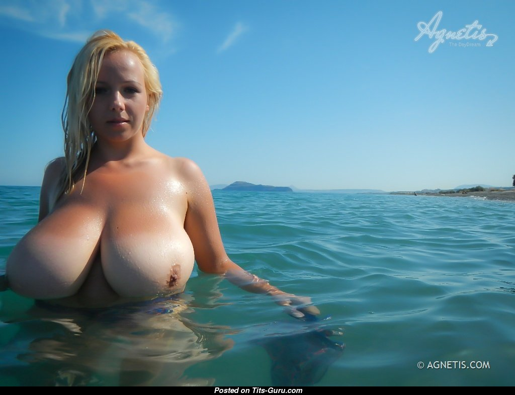 Extremely large natural tits