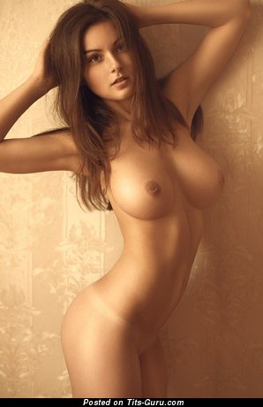 Image. Naked red hair with big natural breast photo