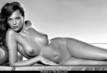 Image. Nude hot female with medium natural breast picture