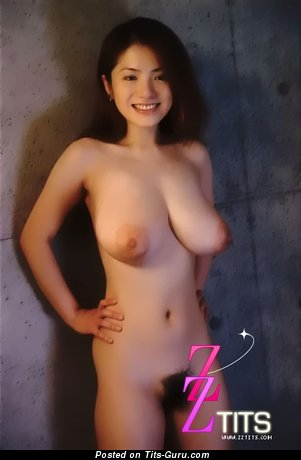 Anna Ohura - Appealing Japanese Female with Appealing Bald Natural H Size Tots (Sexual Pic)