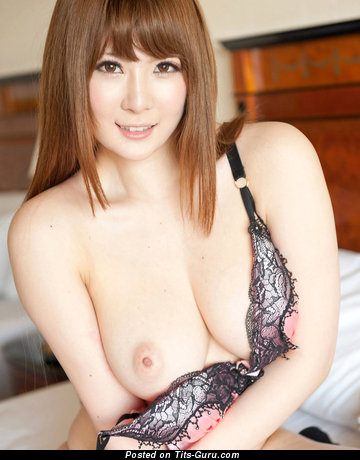 Image. Nishina Momoka - asian red hair with big natural breast image
