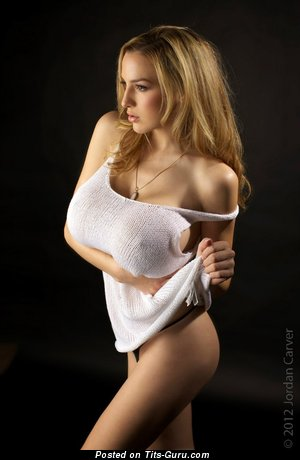 Sexy Bimbo with Sexy Exposed Silicone Very Big Breasts (Sexual Photoshoot)