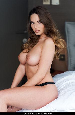 Sabine Jemeljanova - naked hot woman with medium natural tittys picture