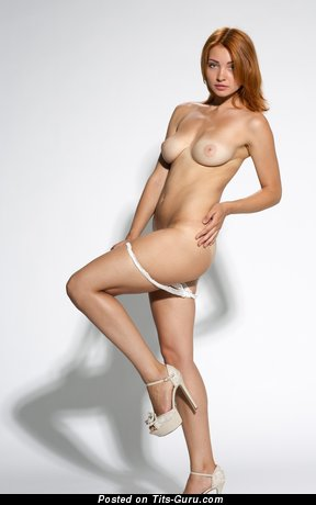 Image. Naked beautiful lady with natural boob image