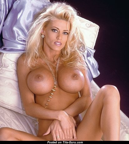 Adara Michaels - Grand American Blonde with Grand Open Silicone Firm Melons (Sex Image)