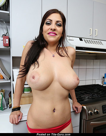 Image. Nude brunette with big natural tittes picture