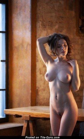 Olga Kobzar - naked brunette with medium natural boob picture