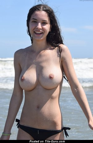 Lucie - Amazing Topless Brunette with Amazing Bare H Size Melons (Hd Sex Wallpaper)