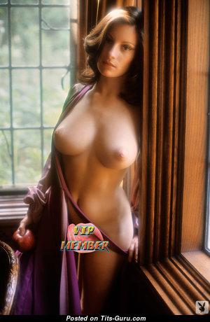 Francine Parks - Marvelous American Playboy Brunette with Marvelous Defenseless C Size Chest (Vintage 18+ Photoshoot)
