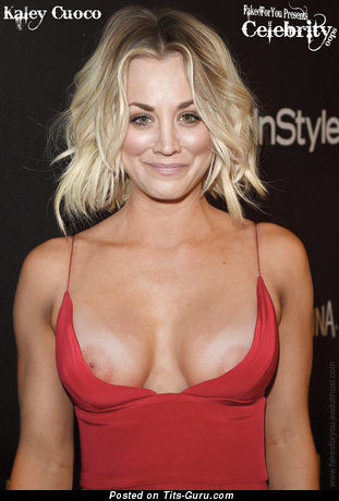 Kaley Cuoco - Hot American Babe & Actress with Amazing Exposed Tight Knockers (Hd Sex Picture)