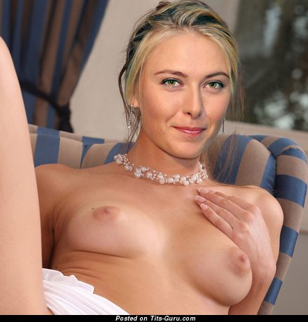 Maria Sharapova - Elegant Russian Blonde Babe with Elegant Bare Real Tiny Tit (Hd Sexual Picture)