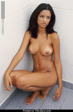 Image. Aline Mates - naked amazing lady with medium natural boobs picture