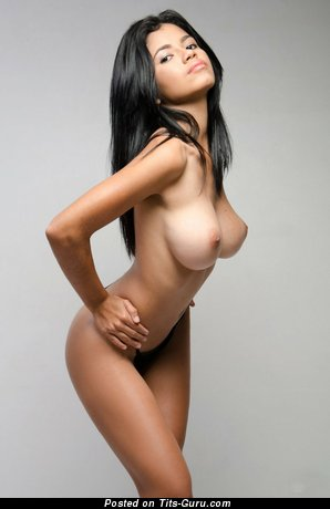 Image. Lea - nude latina brunette with big natural tittys photo