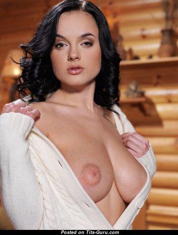 Elegant Glamour Undressed Brunette (Porn Image)