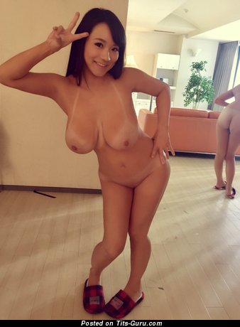 Image. Kaho Shibuya - sexy nude asian brunette with medium natural boob pic