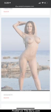 Annalog - Hot Naked Gal on the Beach (Hd 18+ Image)