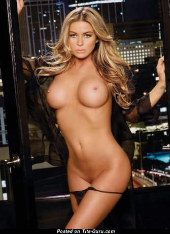 Image. Carmen Electra - naked blonde with big fake tittys image