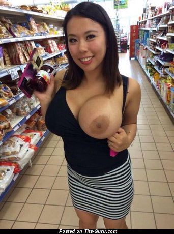 Image. Topless asian with big breast pic