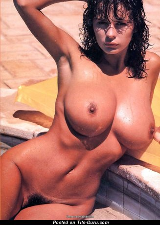 Donna Ewin - sexy wet nude brunette with big breast vintage