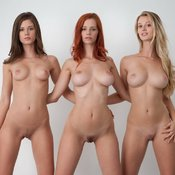Shay Laren - nude red hair with medium natural breast pic