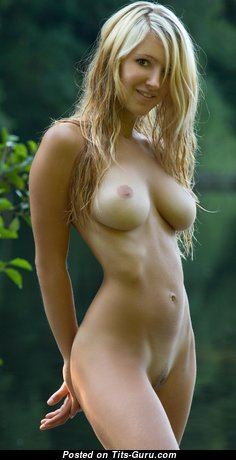 Corinna - Sexy Blonde Babe with Sexy Open Natural Dd Size Titties (Hd Xxx Image)