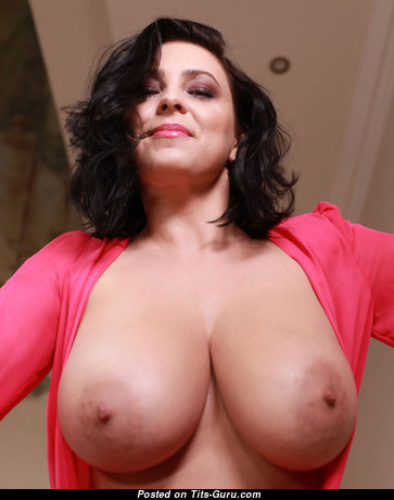 Superb Topless Brunette Babe with Superb Exposed Real Substantial Busts (Xxx Photo)