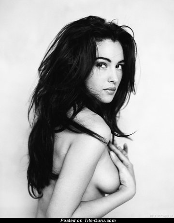 Monica Bellucci - sexy nude wonderful woman with medium natural tittes photo