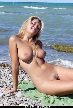 Image. Nude amazing girl with medium natural boobies photo