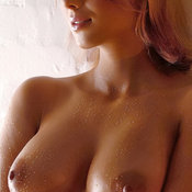 Sexy amazing female with natural breast image