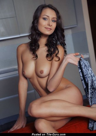 Image. Naked beautiful lady with medium natural boob picture