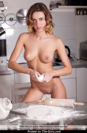 Image. Olga Alberti - naked awesome girl with medium natural tits photo