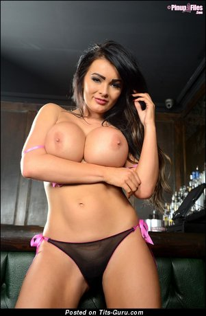Image. Charley Atwell - nude brunette with huge fake tits pic