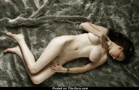 Image. Brunette with big natural tittes pic