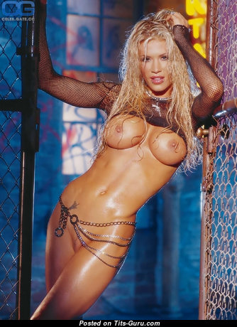 Ashley Massaro - Gorgeous Topless American Playboy Blonde Actress, Babe & Pornstar with Gorgeous Naked Round Fake Breasts, Huge Nipples, Piercing in Lingerie (Hd Sex Photoshoot)