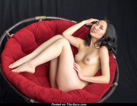 Layla Tso - Delightful Asian Brunette Babe with Delightful Naked Real Knockers, Inverted Nipples, Sexy Legs (18+ Photoshoot)