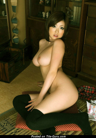Image. Asian brunette with big tittes picture