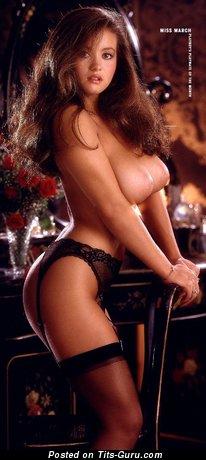 Alana Soares: sexy nude red hair with medium boob vintage
