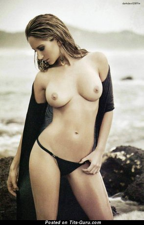 Geraldine Bazan - Superb Topless Mexican Brunette with Superb Bald Natural Normal Titties (Hd 18+ Photoshoot)