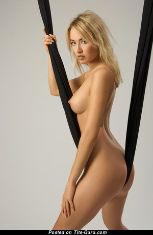 Image. Nude blonde with medium natural tots image