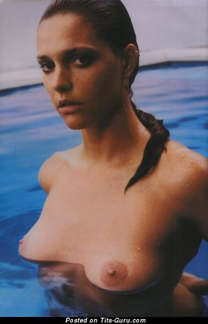 Fine Wet Chick with Fine Naked Natural C Size Knockers (Hd Porn Image)